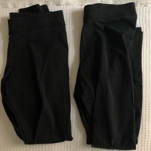 2 pairs of black American Eagle leggings